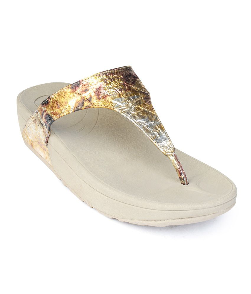 Flori Golden Flat Slip-Ons