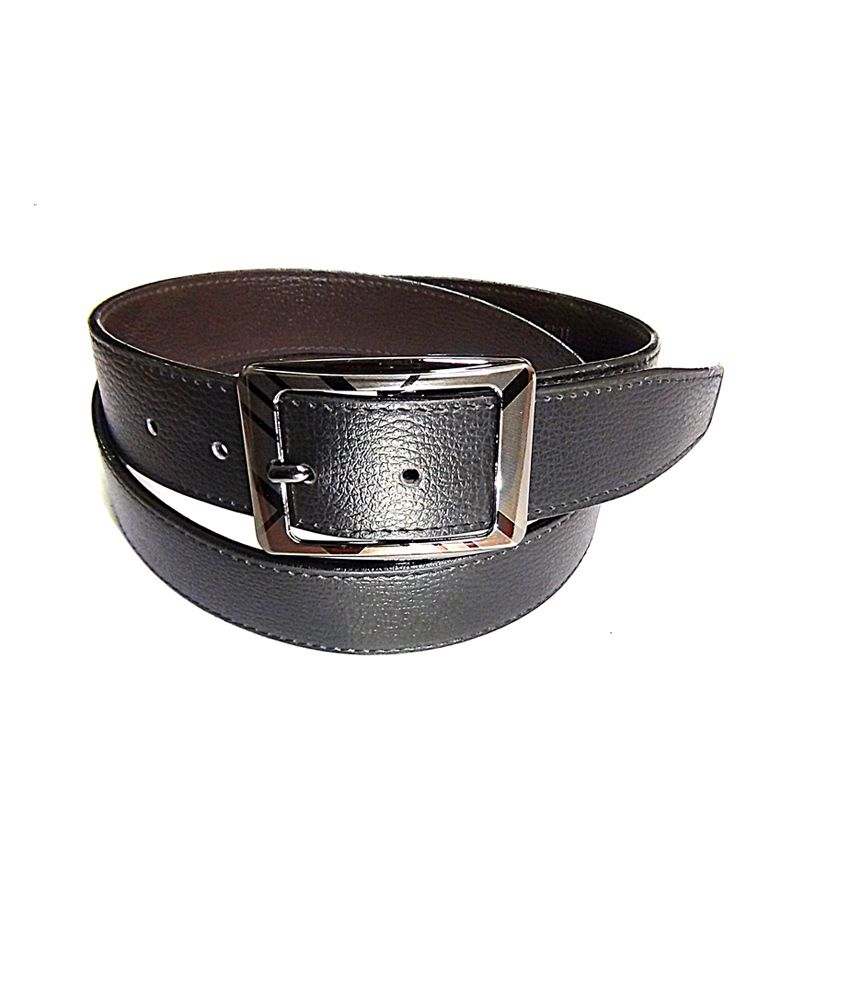 Manshkhino Black Italina Leather Formal Belt