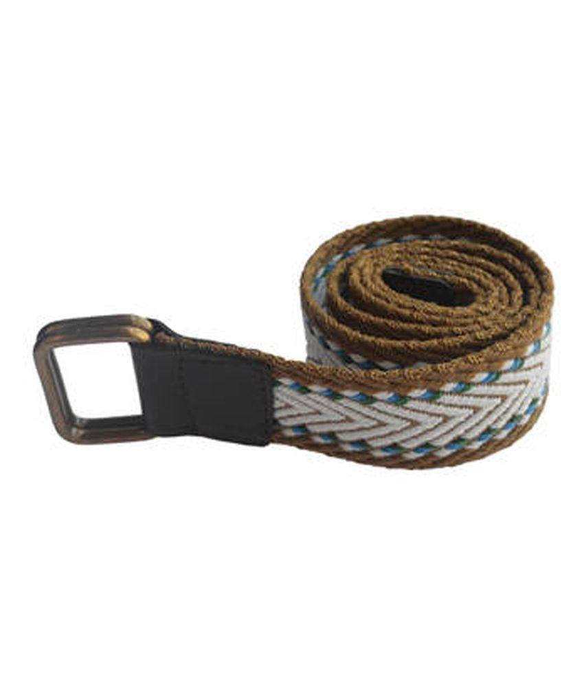 Renz Multicolor Canvas Casual Belt For Men