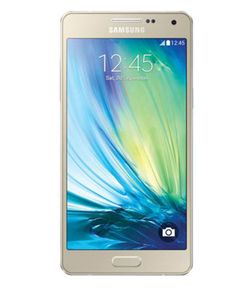 samsung galaxy a3 16gb champagne gold mobile phones online at low prices snapdeal india. Black Bedroom Furniture Sets. Home Design Ideas