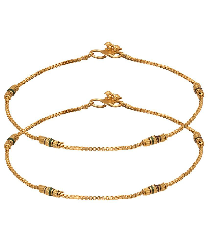 Voylla Beautiful Gold Plated Anklets