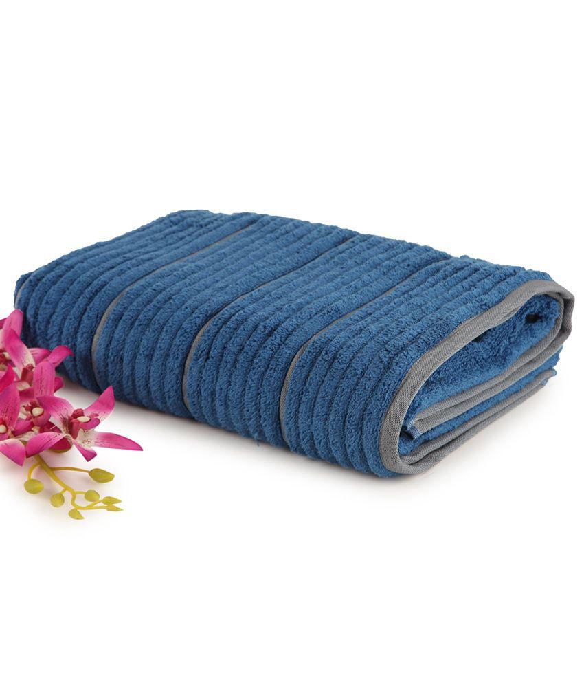 Spaces Blue & Gray Cotton Bath Towel