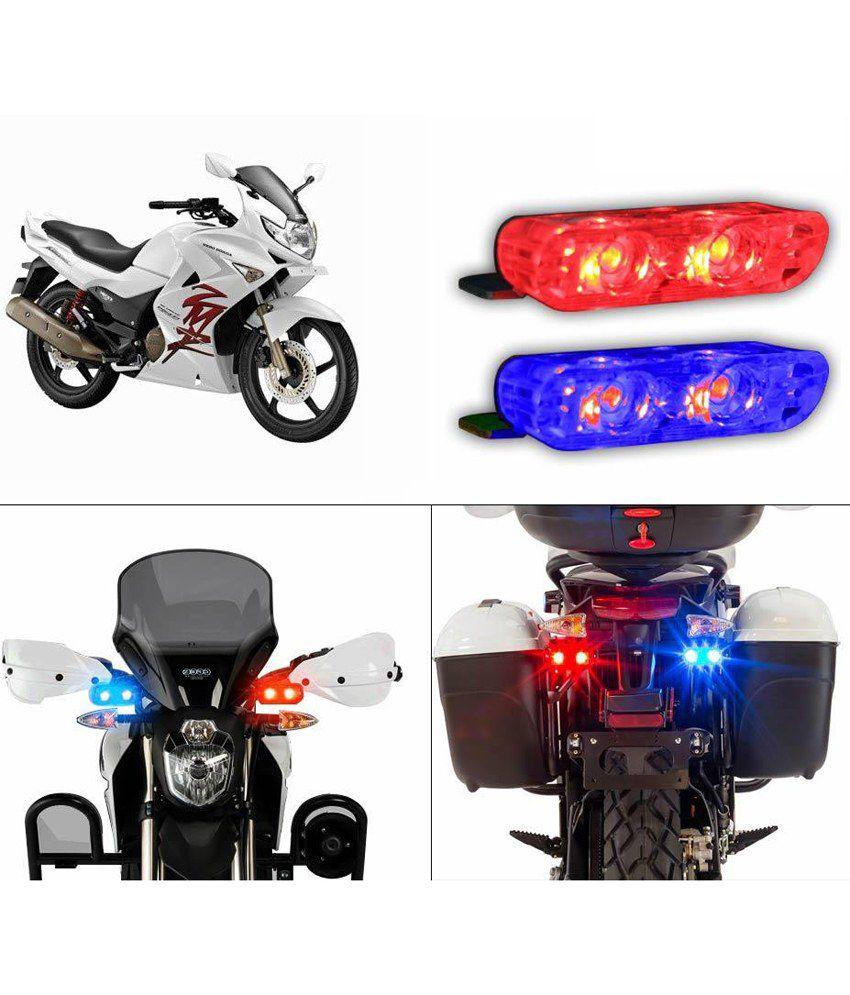 Spedy Red Blue Stylish Indicators Type Bike Light For Yamaha Fz