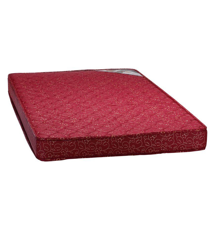 aerocom queen size petal coir mattress with top side quilting