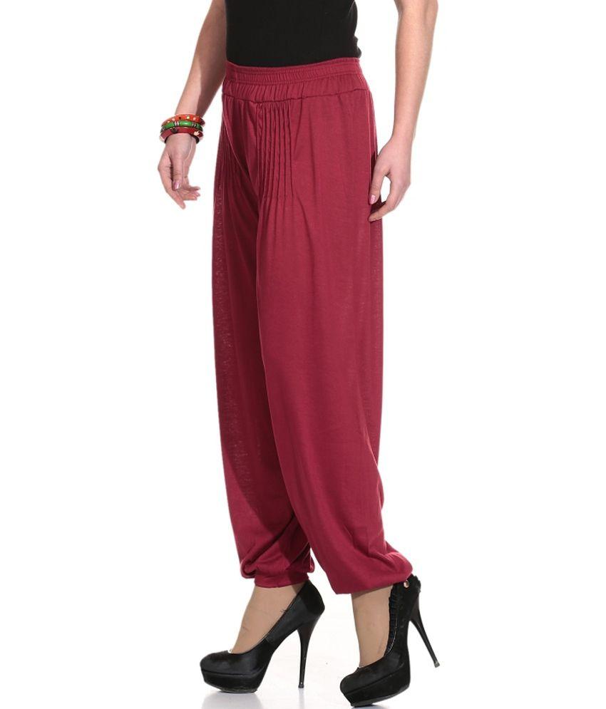f99a1009e2 Legis Cotton Lycra Maroon Harem Pants Legis Cotton Lycra Maroon Harem Pants  ...