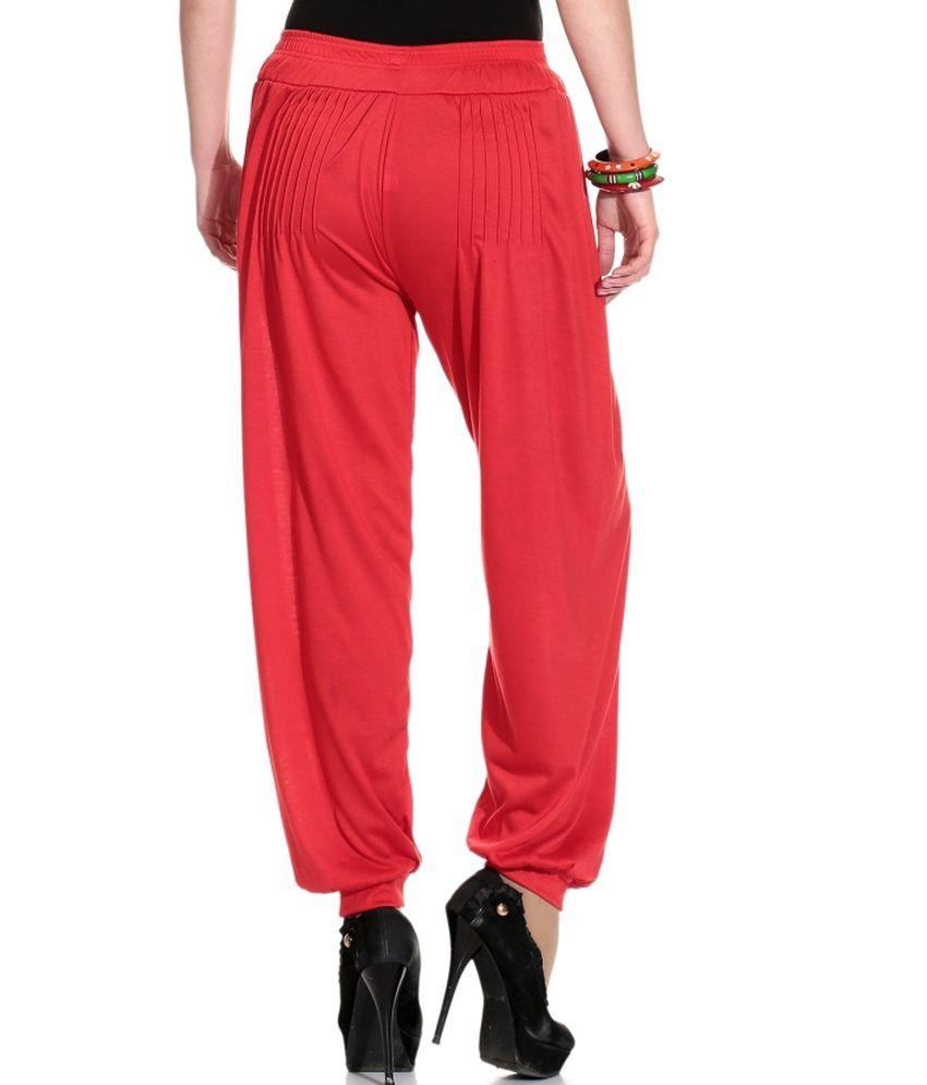 248b2e345b Legis Cotton Lycra Red Harem Pants Price in India - Buy Legis Cotton ...