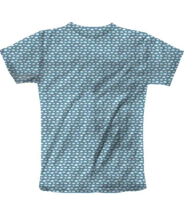 Freecultur Express Blue Cotton Blend T-shirt