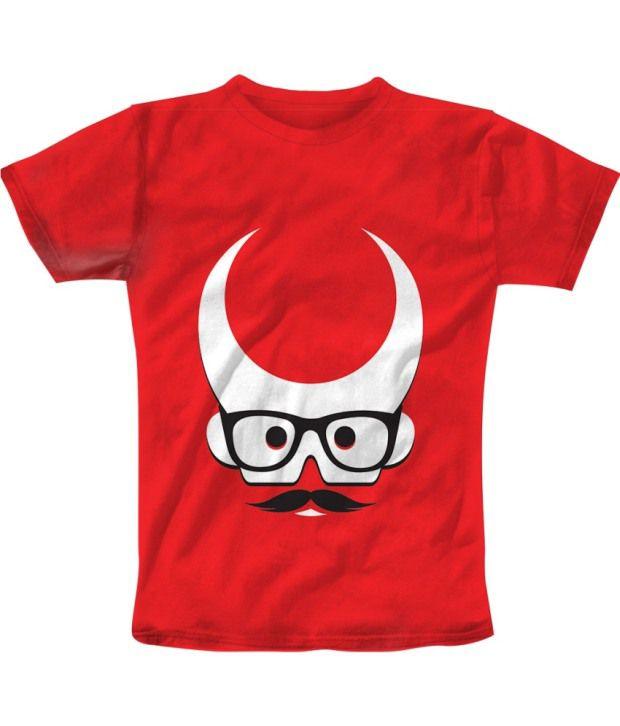 Freecultur Express Red Cotton Blend T-shirt