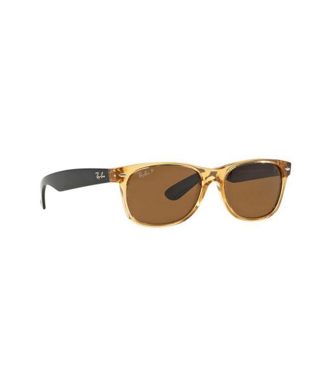 eecba4bf10 Ray-Ban RB2132 945 57 NEW WAYFARER Brown   Brown Sunglasses - Buy ...