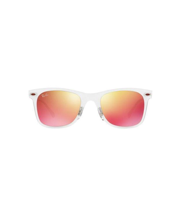 7f00b333ad0f1 Ray-Ban RB4210 646 6Q LIGHT RAY Clear   Orange Sunglasses - Buy Ray ...