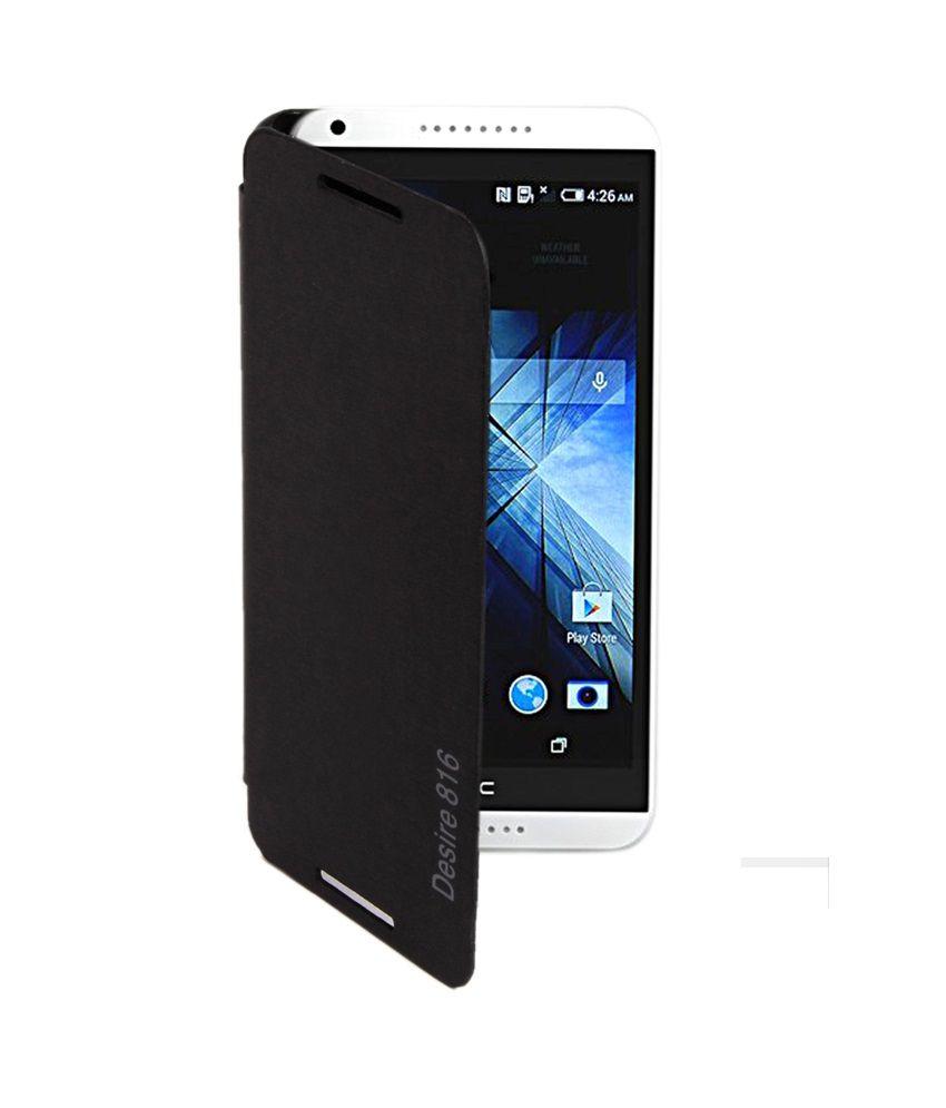 check out 16e74 d6129 Rdcase Flip Cover For Htc Desire 816 - Black