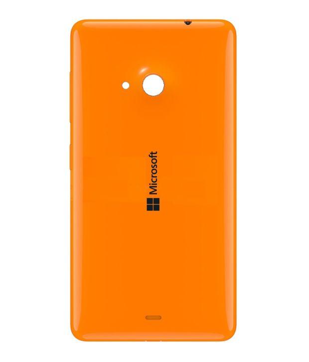 Microsoft Lumia 535 Battery Back Panel Orange Plain Back