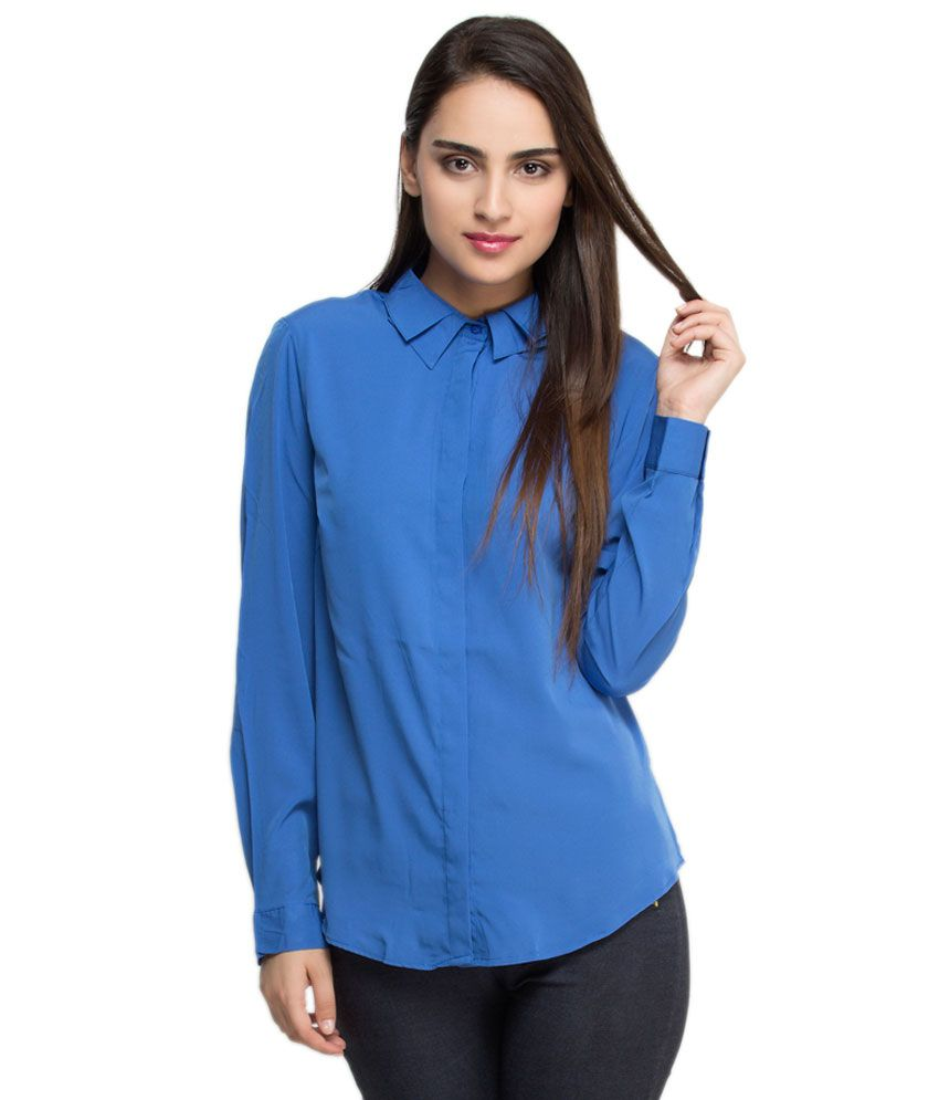 Oxolloxo Blue Polyester Shirts
