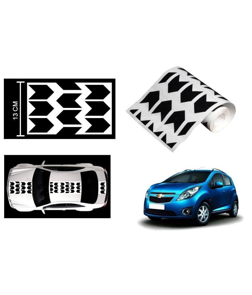 Speedwav Car Racing Stripe Graphic Sticker Black Arrow For Chevrolet