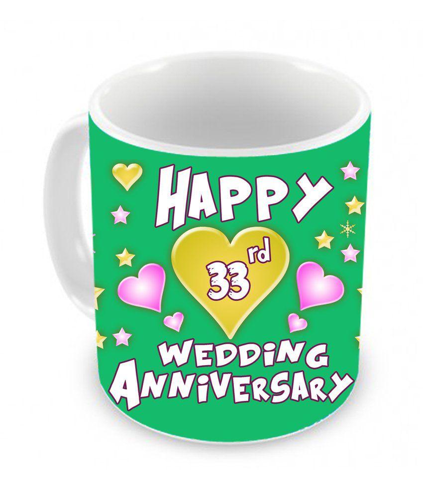 Tiedribbons 33rd Wedding Anniversary Coffee Mug Buy Online At Best