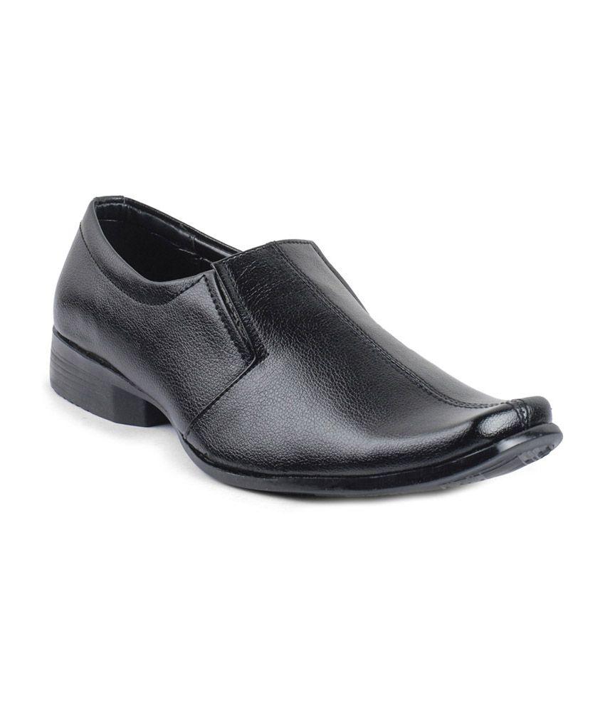 vonc black designer leather formal shoes price in india