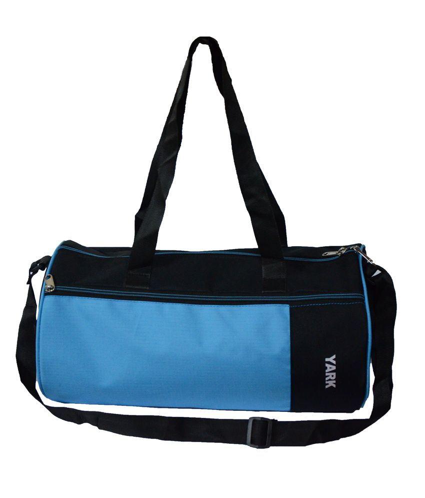 Yark Blue Polyester gear Gym Bag