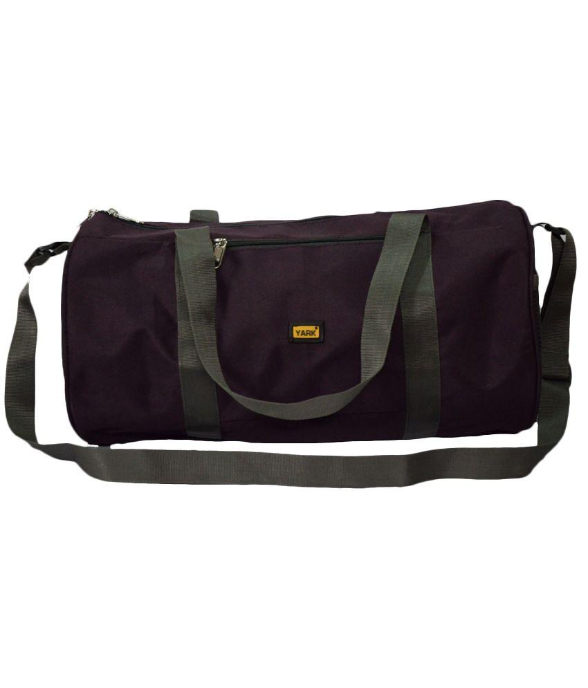 Yark Purple Polyester gear Gym Bag