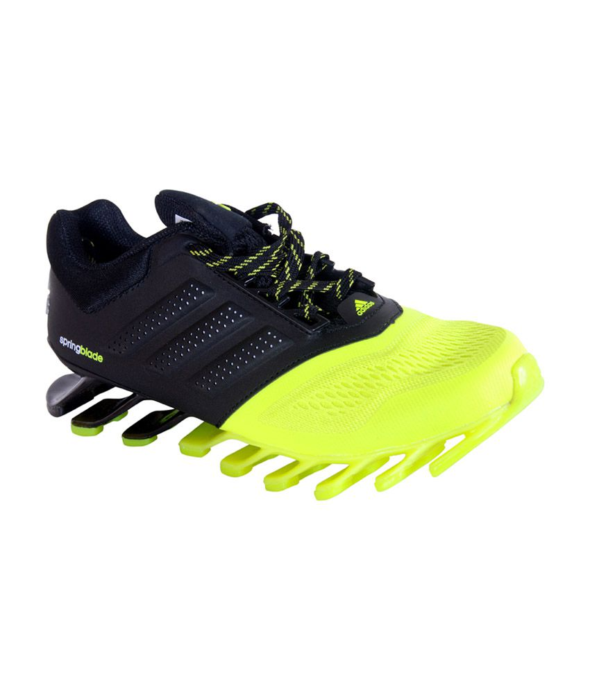 597c80280f52 ... 2015 Imported Sports Shoes - Buy Adidas Green And Black Mesh textile  Lace Springblade 2015 Imported Sports Shoes Online at Best Prices in India  on ...