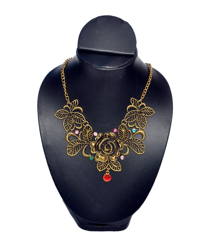 Jdx Yellow Traditional Necklace Set