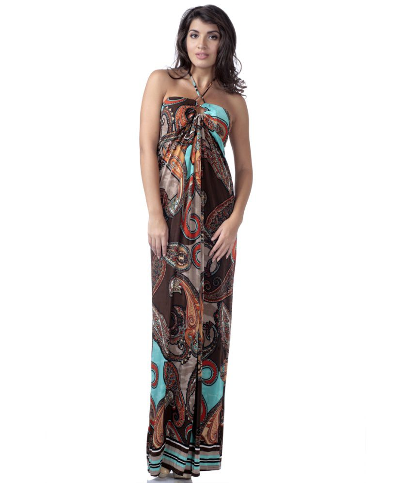 1793a93ca937 Buy Heart 2 Heart Brown Lulu Halter Neck Beach Dresses Online at Best  Prices in India - Snapdeal