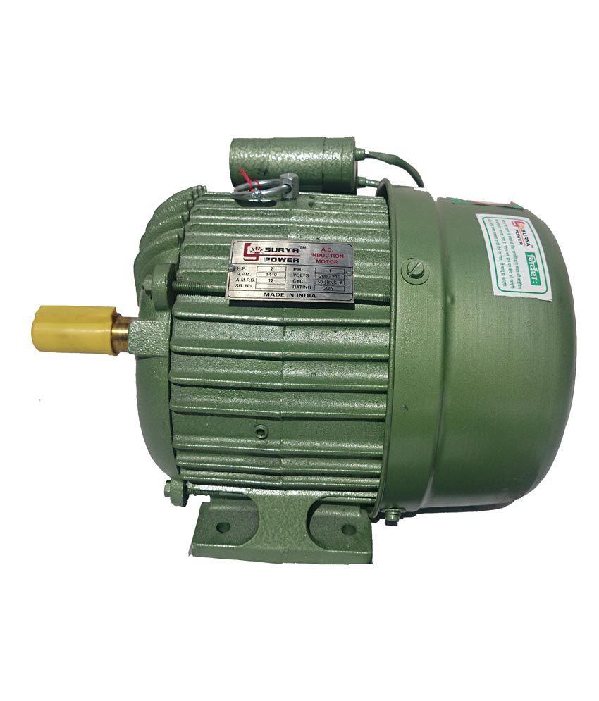Buy surya atta chakki electric motor single phase 2 hp for 2 hp dc motor price