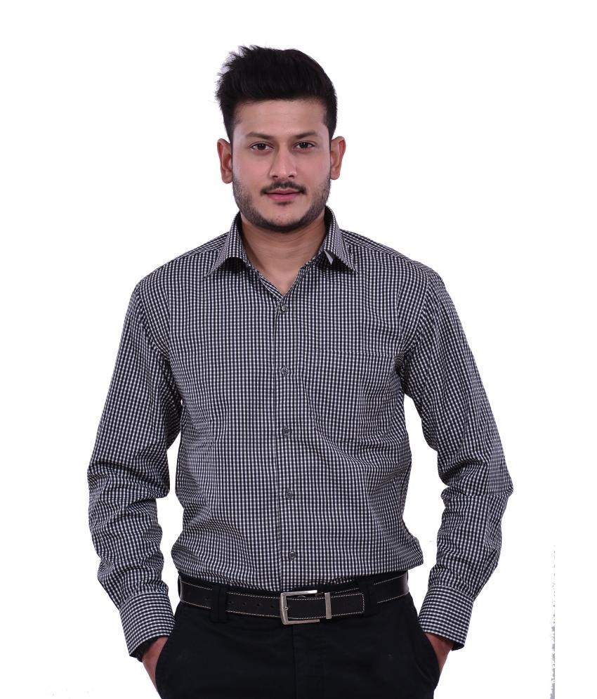 Dennison Black Mens Formal Shirt