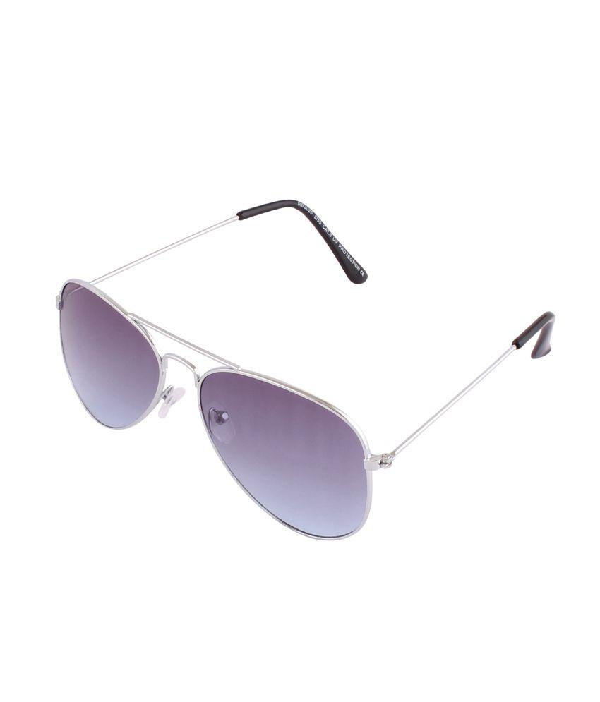 Tim Hawk Silver Metal Oval Shape Mens Aviator Sunglasses