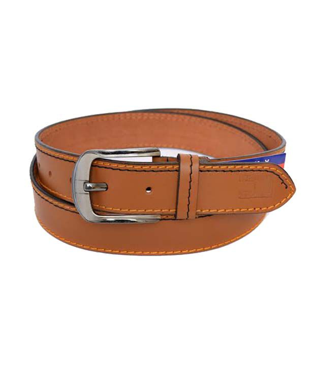Tommy Hilfiger Tan Leather Belt For Men