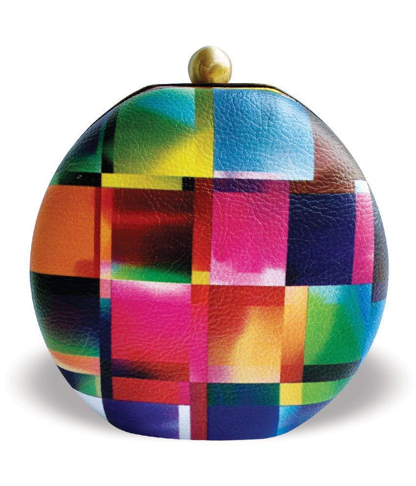 Wevli Multicolour Fancy Clutch
