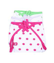 Bio Kidfancy Tie Padded Nappies - Multi Color Combo - 3 Pcs Pack