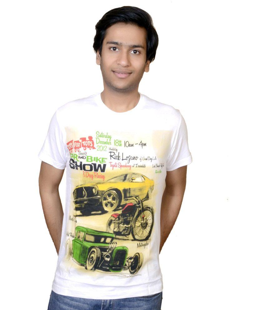 White Cotton Bike Show T-shirt