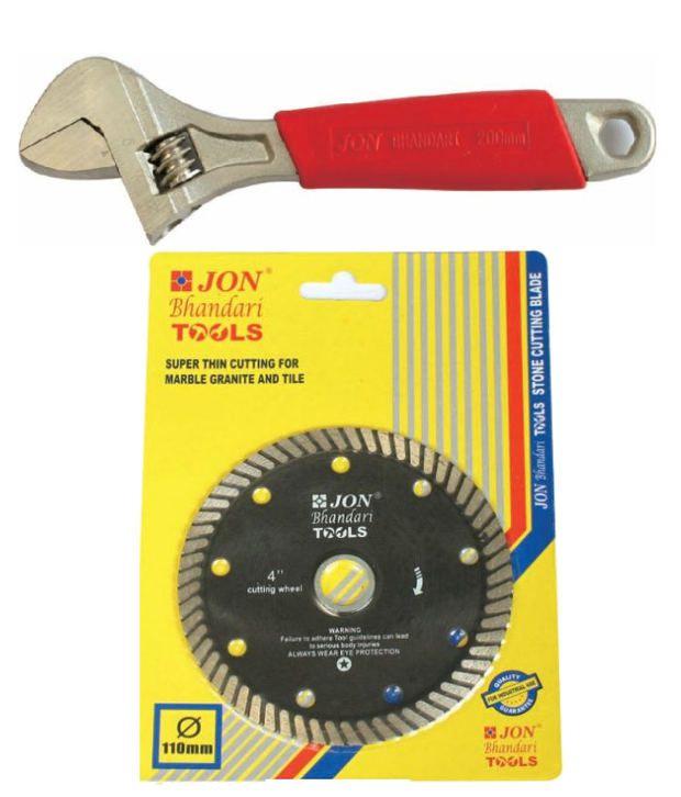 Jon Bhandari Adjustable Wrench And Stone Cutting Blade 101 6