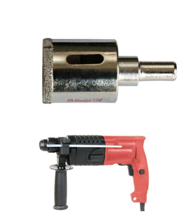 Jon Bhandari Core Bit For Steel Finish And Rotary Hammer Deluxe Machine 20 Mm