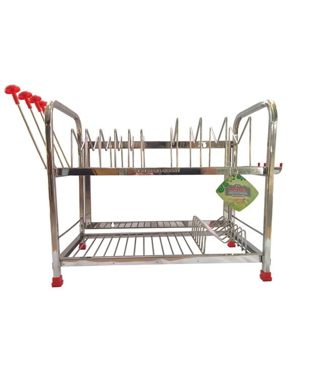 Maharaja Modern Kitchen Rack Stand For Dishes Plates Glass Crockery