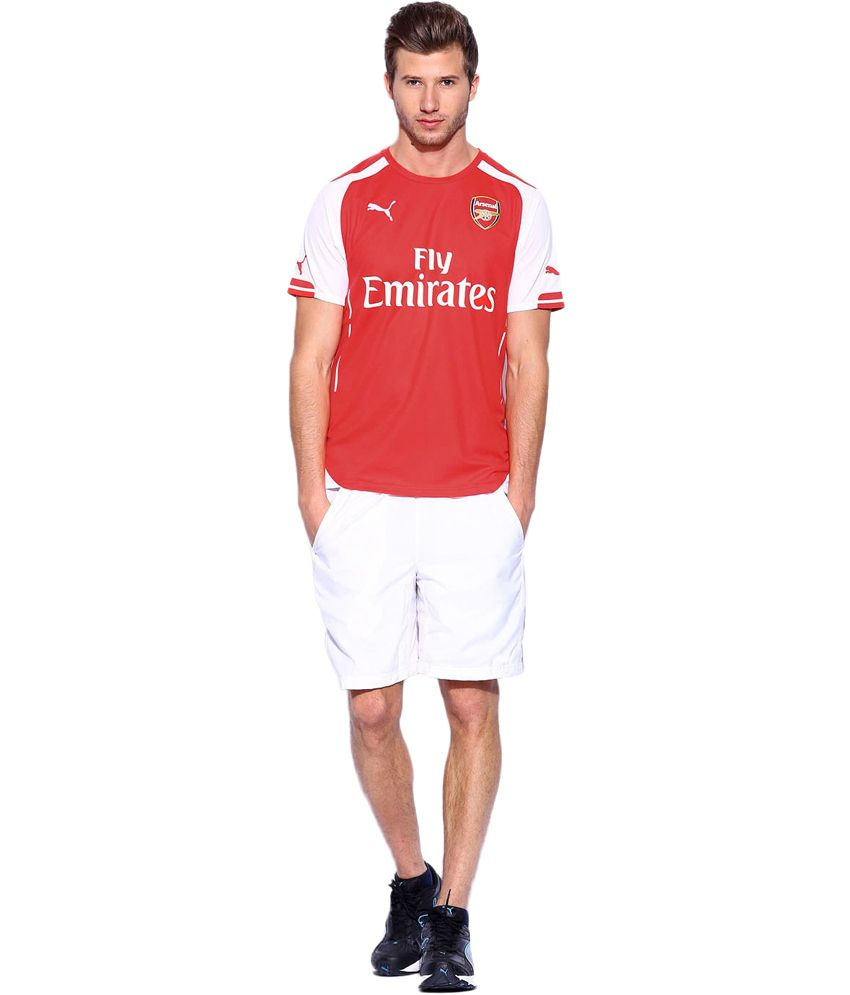 Puma Red Polyester Printed Arsenal T-shirt