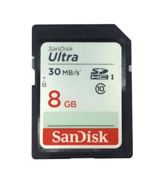 Sandisk 8gb Sd 30mb/s Class 10 Ultra Sdhc Card