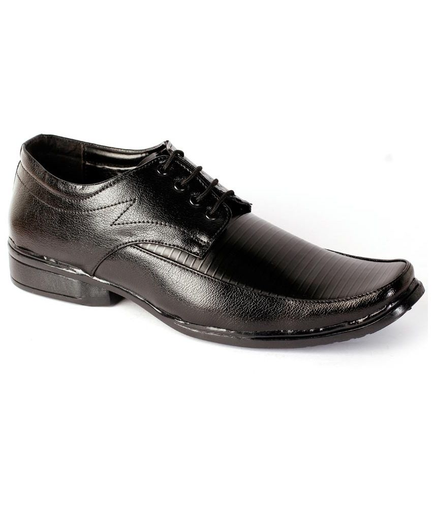 shoes n style black slip on non leather formal shoes price
