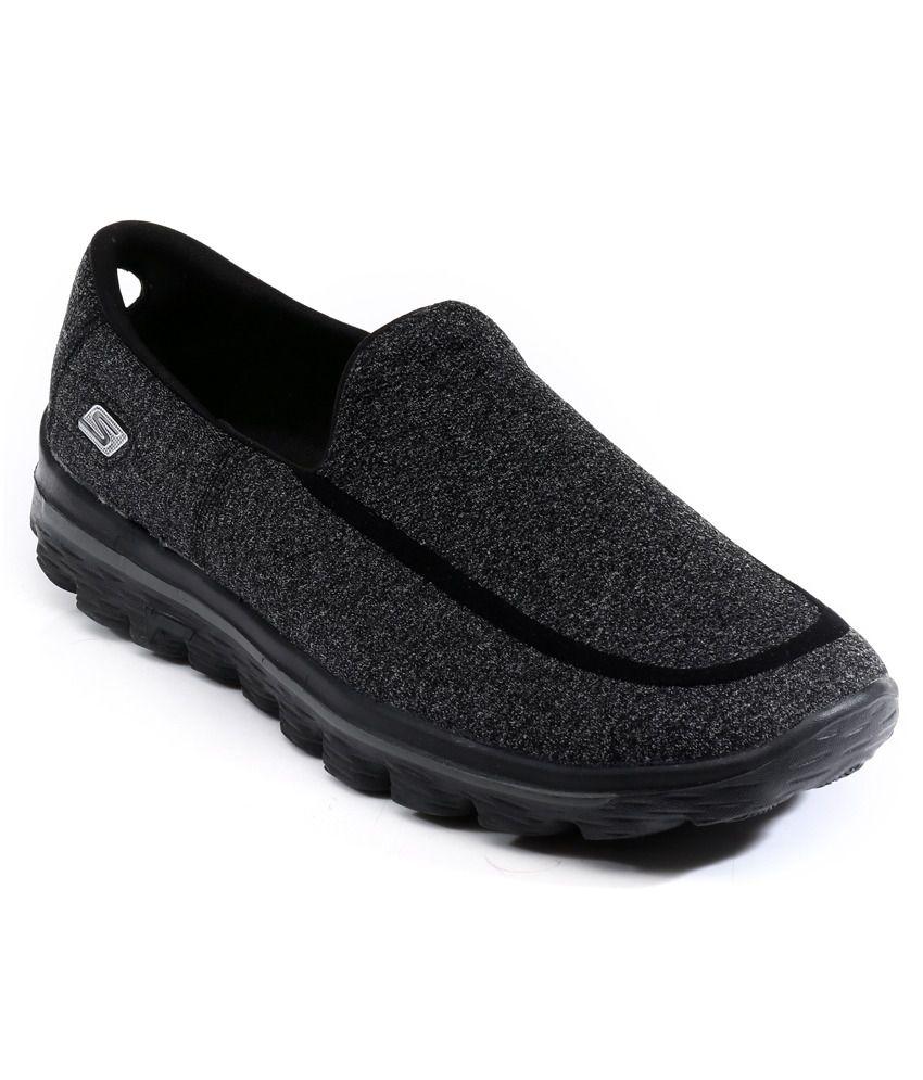 Skechers Go Walk 2-super Sock Black Walking Shoes ...