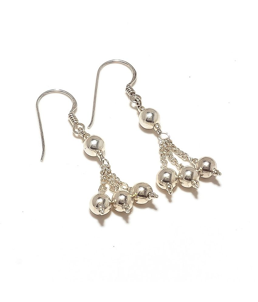Kirti Gems Pure Solid Silver Hot New Dangle Earring