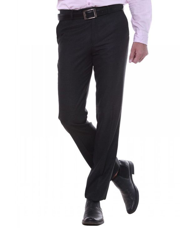 Sangam Apparels Cozy Regular Fit Mens Navy Trousers