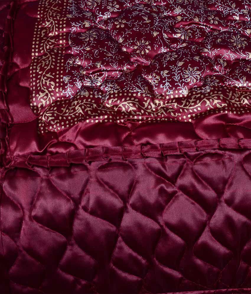 Wedding bed sheet set -  Urban Style Designer Satin Double Bed Wedding Bedsheet Set Of 4 Pcs