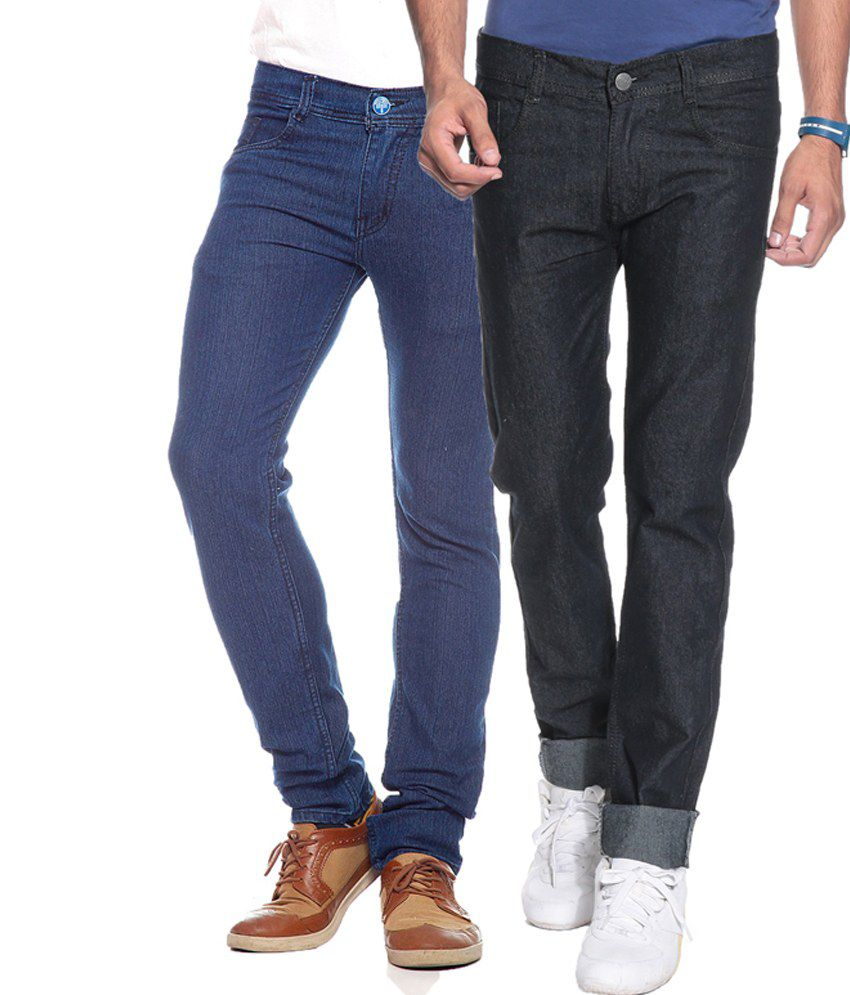 Pazel Combo Of 2 Stretchable Jeans For Men