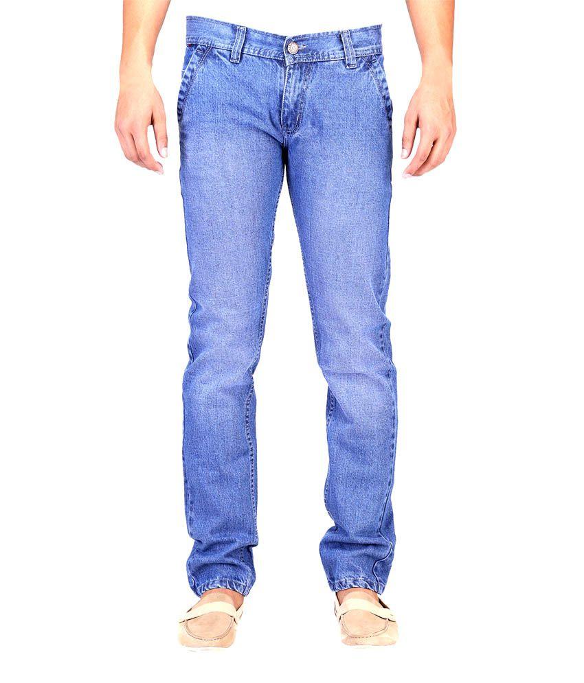 K-san Blue Cotton Jeans
