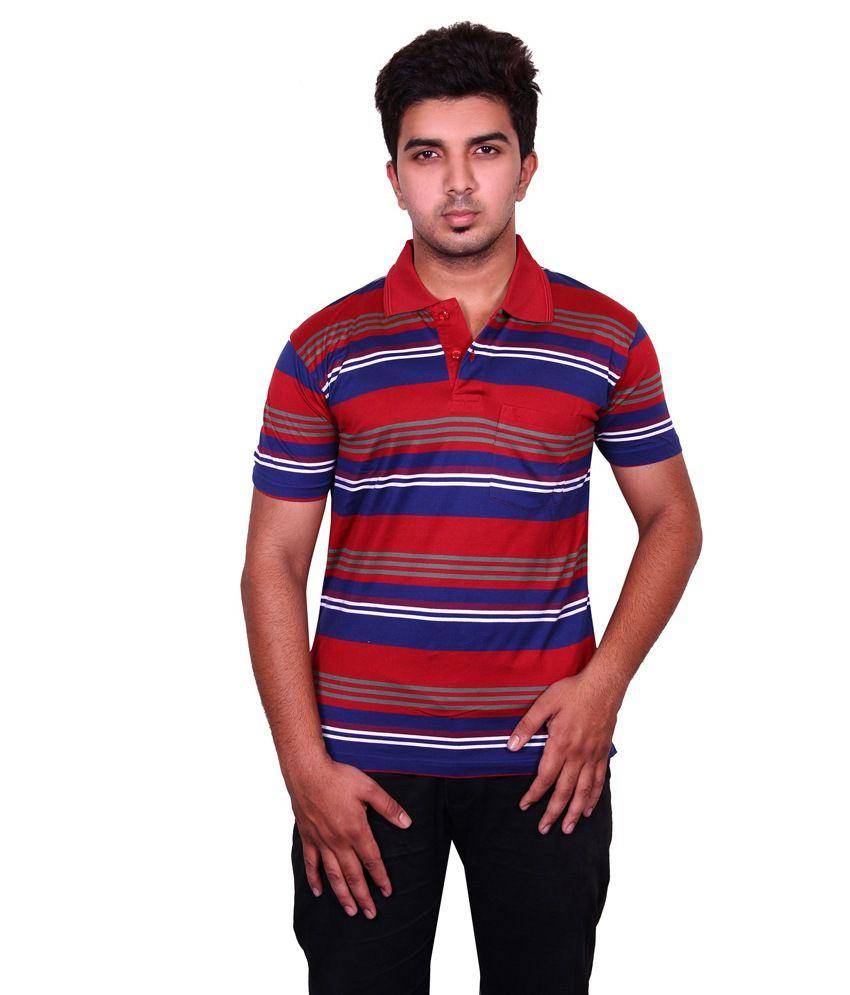 Moonwalker multi cotton polo half sleeves t shirt for men for Full sleeve polo t shirts