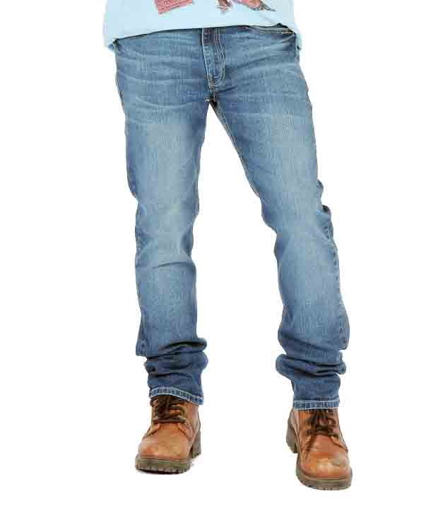 Levis Strauss Blue Cotton Blend Jeans