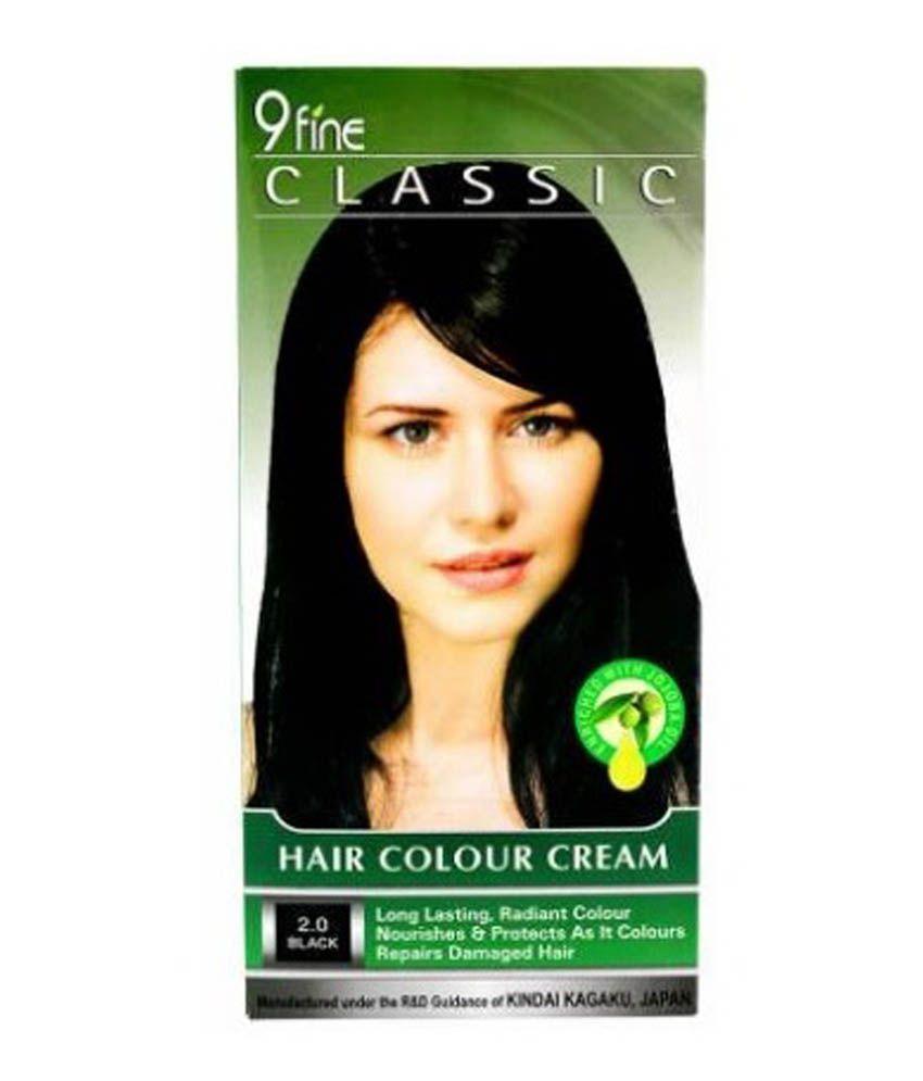 9 Fine Classic Hair Colour Cream 2 0 Black Buy 9 Fine Classic