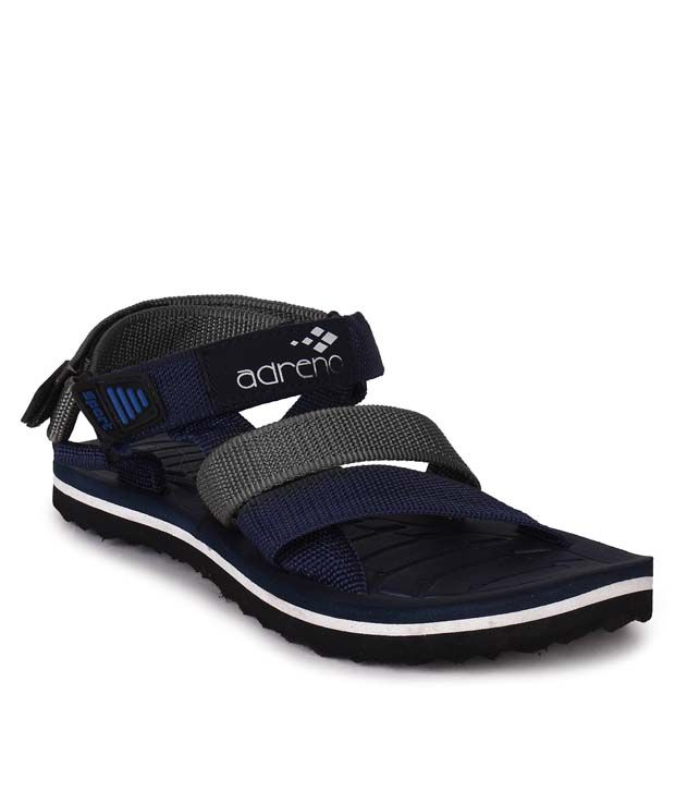 Adreno Black Floater Sandals shipping discount authentic for cheap cheap sale sast c2uoz5y