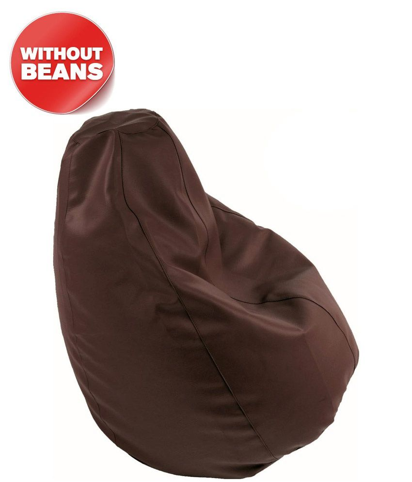 dolphin xxl brown bean bag cover without beans buy dolphin xxl rh snapdeal com