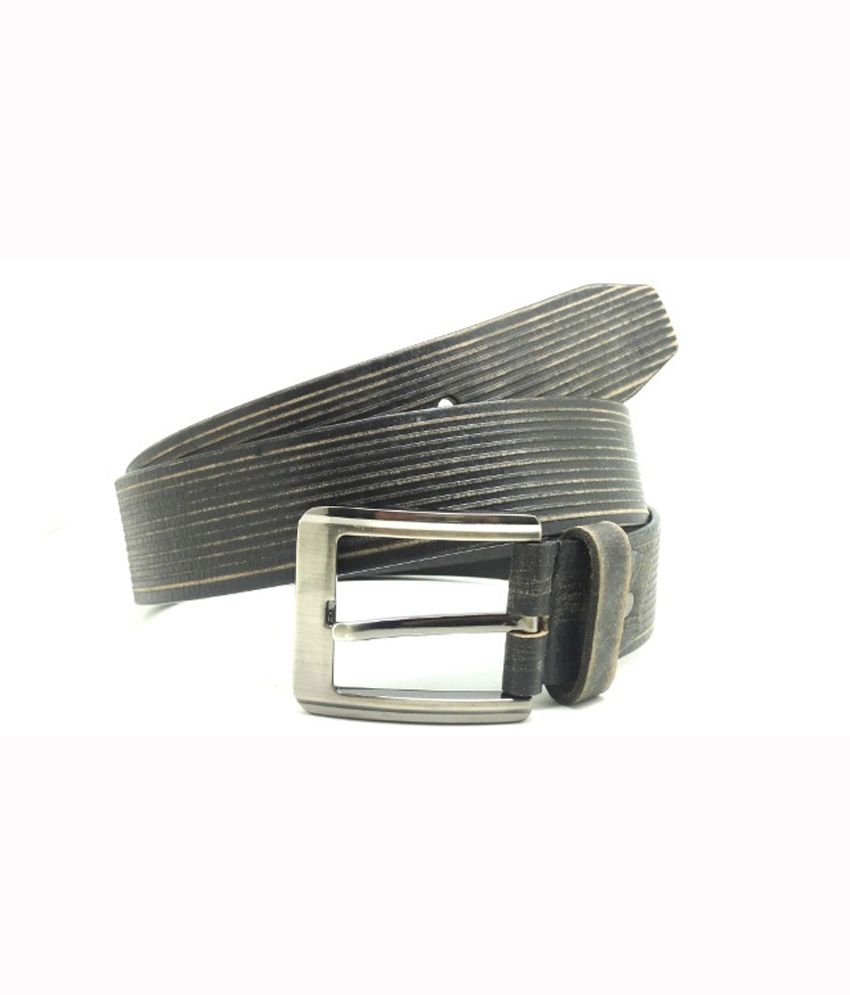 Urban Vintage Classic Leather Belt - Black
